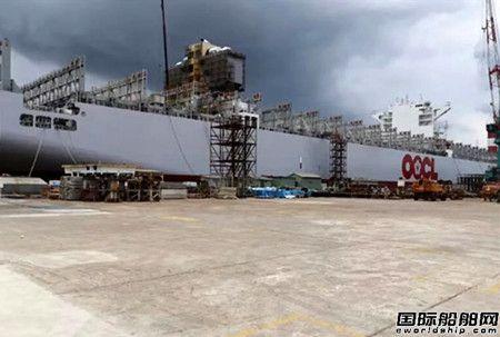 东方海外超大集装箱船脱硫系统改装作业刷新最快纪录