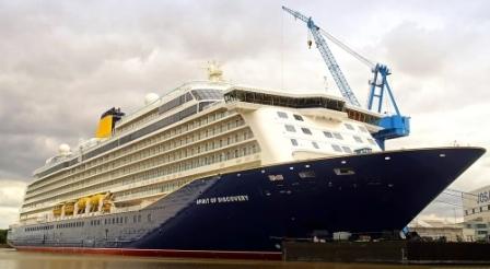 """""""Spirit of Discovery""""号邮轮在南安普顿港迎来首航"""