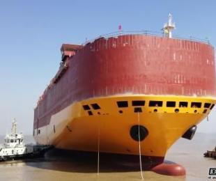 扬帆集团一周实现三艘新船出坞重大节点