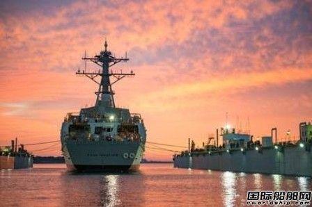 """美国海军""""USS Paul Ignatius""""号导弹驱逐舰服役"""