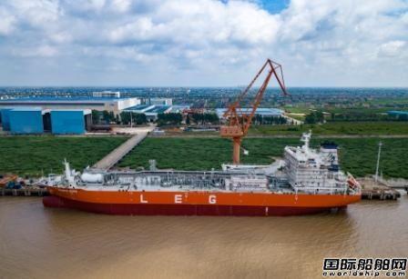 南通中集太平洋海工交付第二艘22000方LEG船