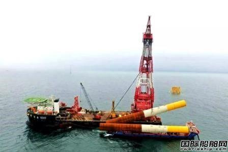 华西海工完成全球最长单桩沉桩作业