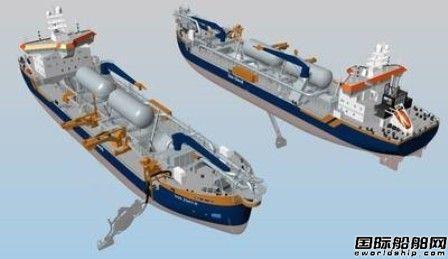 ABB将为2艘新造LNG动力挖泥船提供综合船舶系统