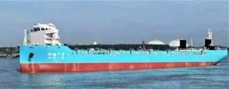 """长航集团首艘1140TEU敞口集装箱船""""汉海7号""""顺利试航"""