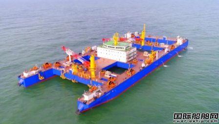 黄埔文冲建造世界首艘自航式沉管运输安装一体船完成试航