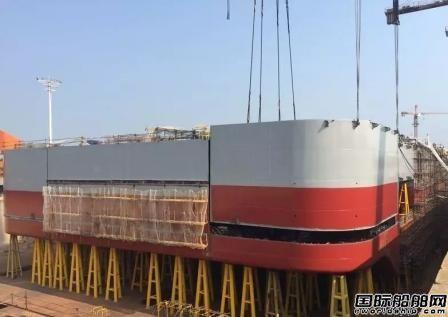振华重工2500T海上风电安装平台项目全船贯通