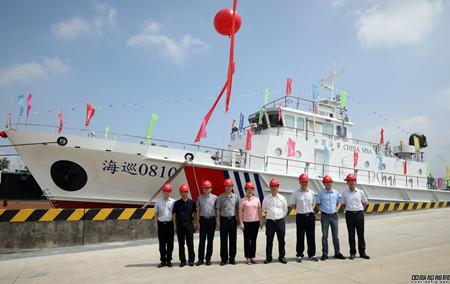 江龙船艇批量建造40米级B型巡逻艇首制船下水