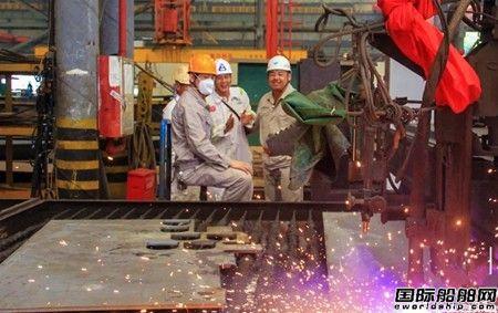 马尾造船两艘23500吨成品油船开工