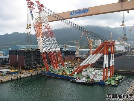 大宇造船前7个月接单量仅完成33%