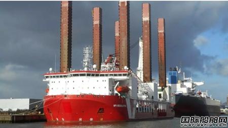 达门修船厂完成Van Oord风电自升式安装平台维修