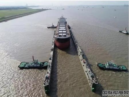 上船院设计下水浮船坞在扬子三井造船投入使用