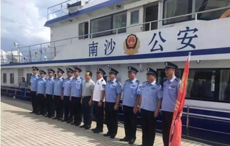 江龙船艇建造的广州南沙公安巡逻艇正式列装并开展首次巡航