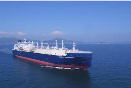 上海LNG第三艘亚马尔冰区LNG船交付营运