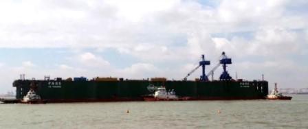 """上海中远海运重工""""中海浦东""""号浮船坞改装完工"""