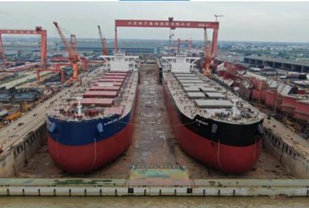 扬子江船业一周完成5大生产大节点
