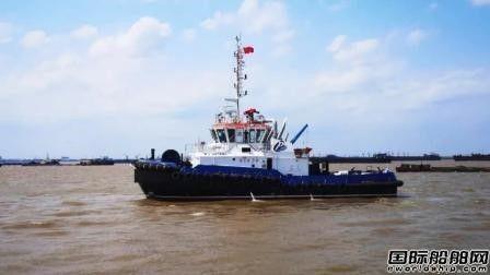 红旗船厂交付一艘32米全回转拖轮