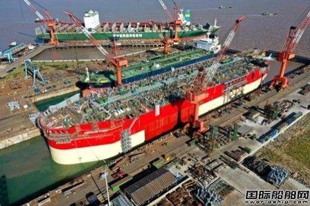 舟山中远海运重工Karish FPSO项目成功下水