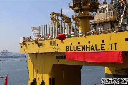 """中集来福士建造""""蓝鲸2号""""正式命名"""