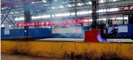 东南造船首制4650吨水泥运输船顺利开工