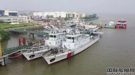 江龙船艇批量40米级B型巡逻艇3号艇顺利下水