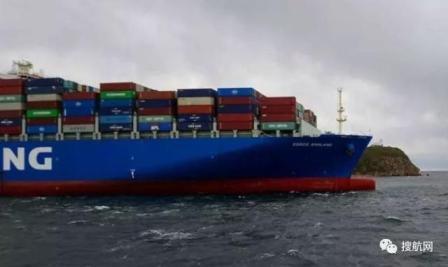 """中远海运""""COSCO ENGLAND""""轮俄罗斯海域搁浅"""