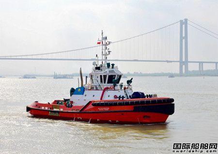 镇江船厂交付4艘3300AV全回转拖船
