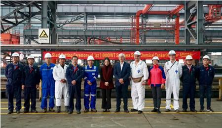 中航鼎衡3600吨不锈钢化学品船首制船开工