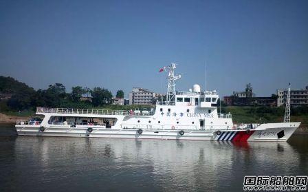 桂江造船2艘巡逻船一船试航一船下水