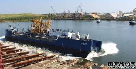 美国船厂建造首艘LNG燃料加注ATB下水