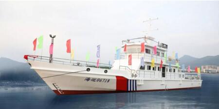 江龙船艇承建江苏海事局巡逻船项目顺利下水