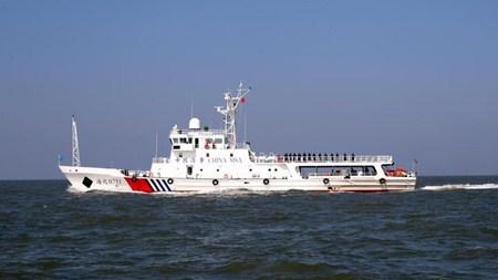 台州沿海水域最大最先进公务执法船正式列编