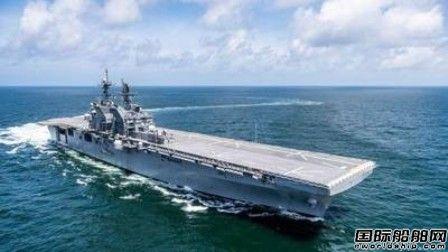 """HHI完成""""Tripoli""""号两栖攻击舰验收试验"""