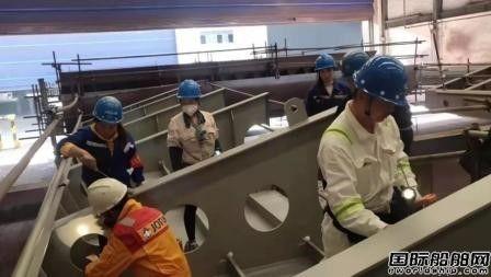 芜湖造船8000吨船系列订单首只PSPC分段冲砂一次性通过报检