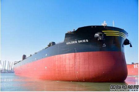 渤船重工一艘21万吨散货船提前10天实现下水出坞节点