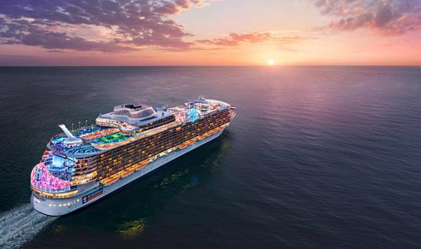 """皇家加勒比""""海洋奇迹号""""邮轮亮相进博会"""