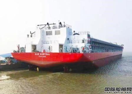武船集团新13000吨甲板运输船3号船离厂即将交付