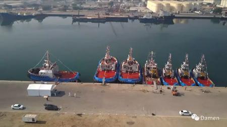 达门Albwardy船厂一次交付13艘拖轮