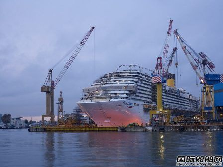 歌诗达邮轮为中国市场建造第二艘豪华邮轮出坞