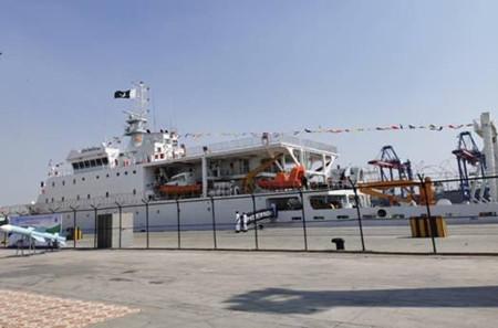 大津重工建造测量船顺利入列巴基斯坦海军