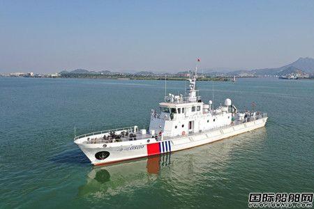 江龙船艇又一艘福建海事局批量40米级巡逻艇试航