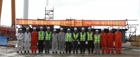 振华重工1200吨插桩式抢险打捞工程船铺龙骨