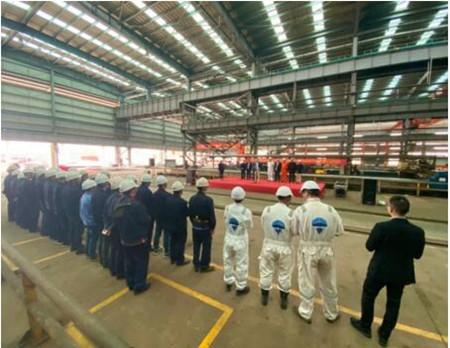 中航鼎衡3600吨不锈钢化学品船2号船开工
