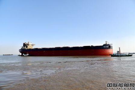 新时代造船两艘208000吨散货船顺利下水