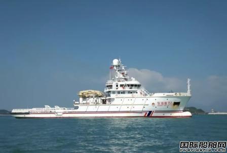 黄埔文冲建造中型海洋救助船首型船顺利试航