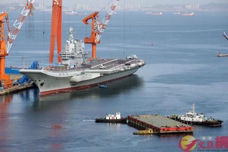 国产航母开始第九次海试或将接收舰载机