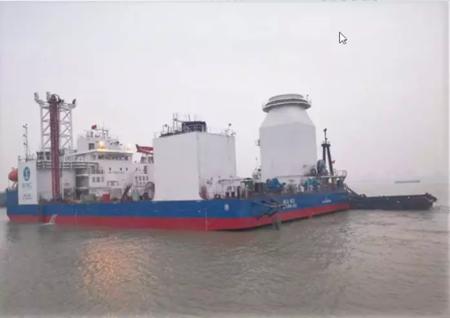 江苏大洋600T自升式多功能风电安装平台顺利拖航
