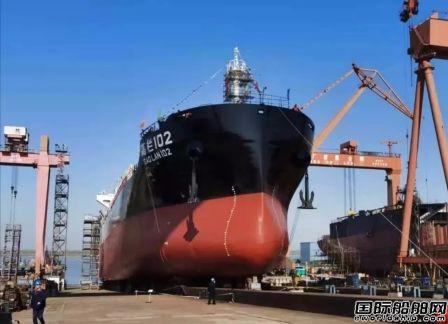 芜湖造船厂2艘12500吨散货船同日试航下水