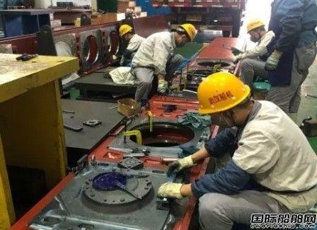 武汉船机华东院勘探平台关键部套升降系统安装架出厂