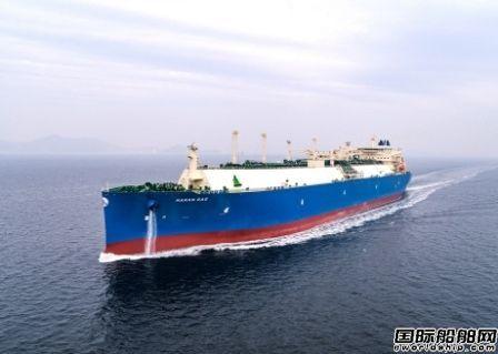 """大宇造船交付首艘""""船底吹气""""LNG船"""