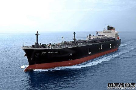 JMU交付日本邮船1艘83000立方米VLGC